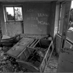 Destroyed appartment. The village of Hum, Bosnia and Herzegovina
