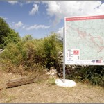 Hum, Bosnia and Herzegovina. Information about landmines. Watch where you're going!
